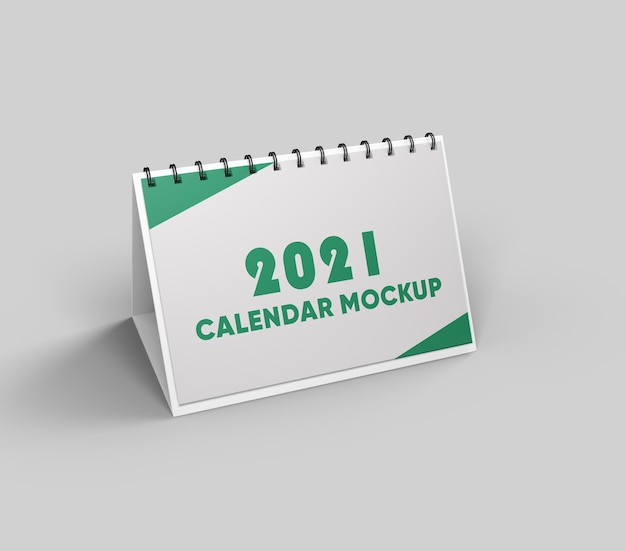 Calendario mockup design isolato