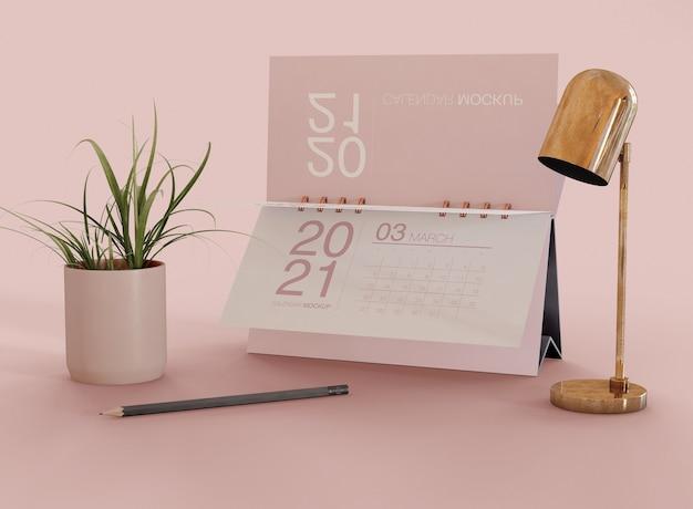 Mockup del calendario