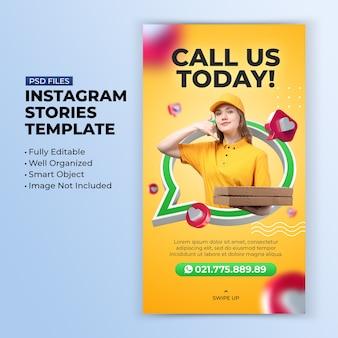 Chiamaci modello di storia di instagram di promozione del concetto creativo