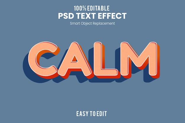 Calma effetto testo 3d