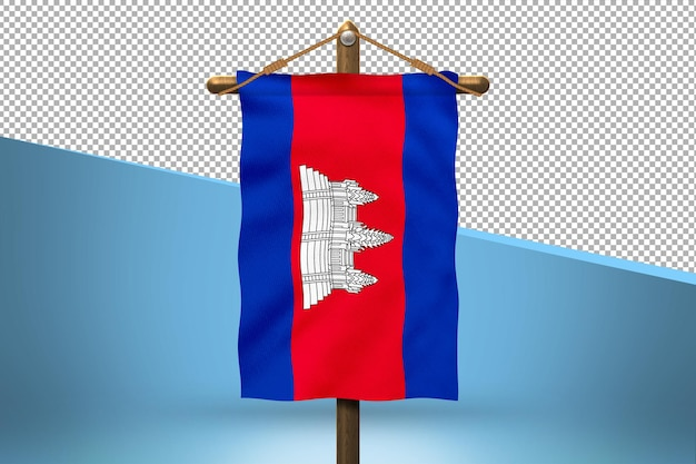 Cambogia hang flag design background