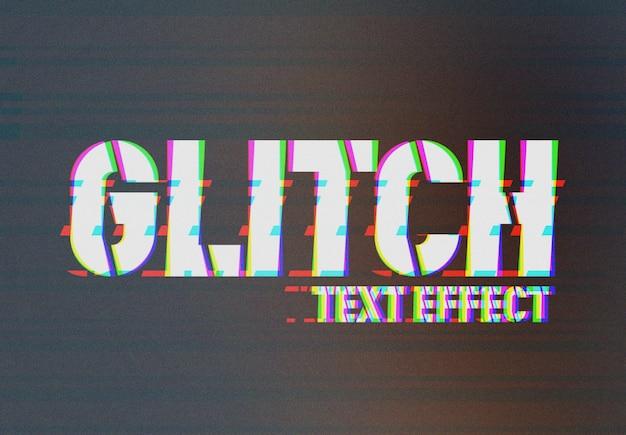 Videocamera glitch effetto testo mockup