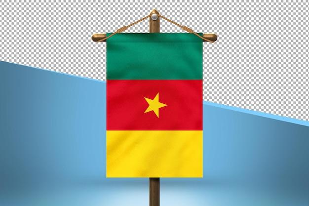 Priorità bassa di disegno della bandiera del camerun hang