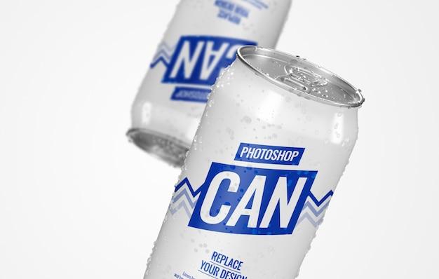 Può la birra mockup pubblicità realistica
