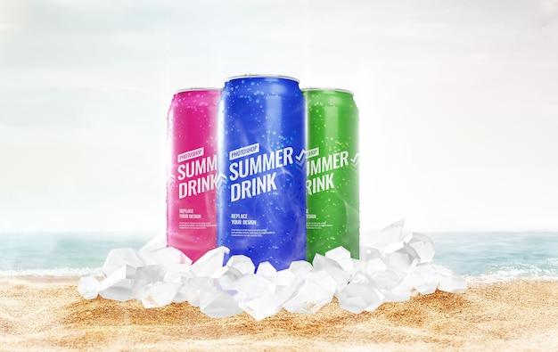 Può congelare l'estate del mockup di ghiaccio
