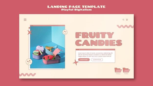 Modello di pagina di destinazione del negozio di caramelle