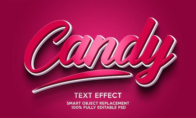 Modello di effetto testo caramelle
