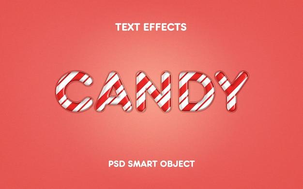 Effetto testo caramelle