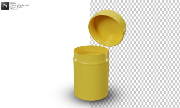 Lattine illustrazione 3d design