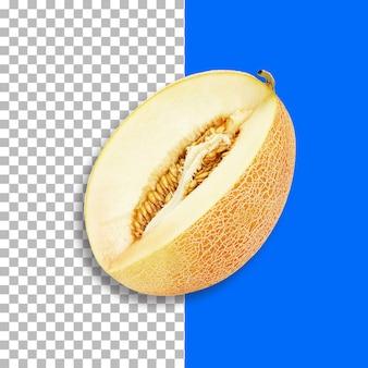 Melone cantalupo isolato su sfondo trasparente.