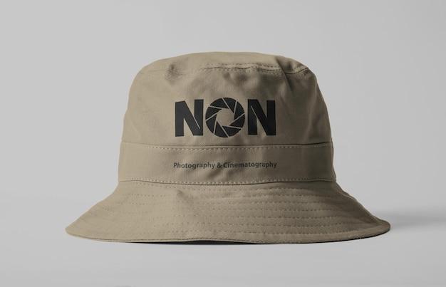 Modello di mockup di cappello da secchio in tela