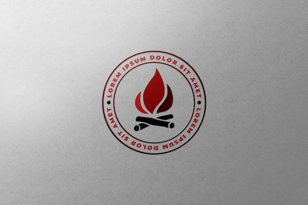 Carta su tela logo mockup