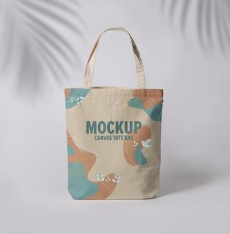 Modello di mockup di tote bag in tela