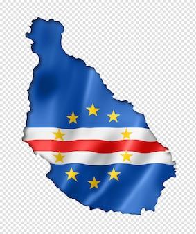 Mappa della bandiera di capo verde
