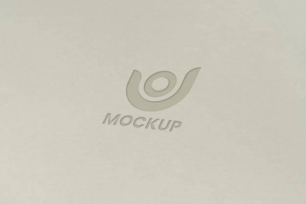 Lettera maiuscola mock-up logo design