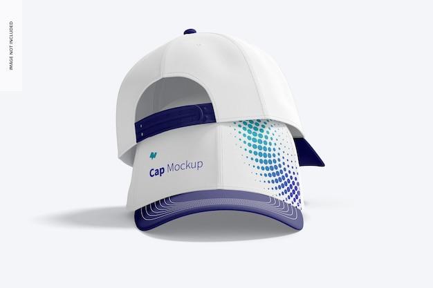 Caps mockup, impilati