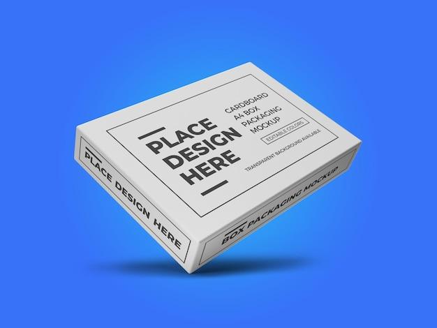 Modello di mockup di scatola di carta in cartone a4 psd