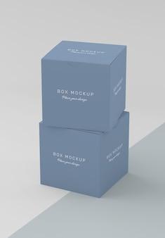 Modello di scatola di cartone