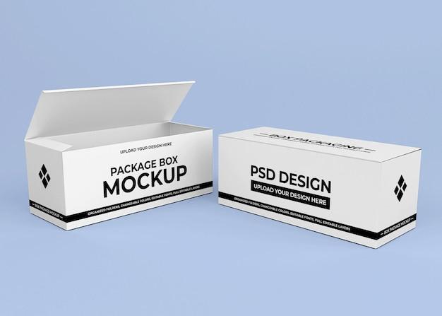 Design mockup di scatola di cartone