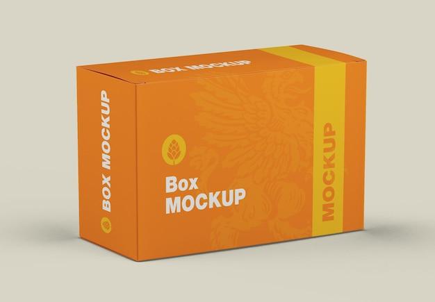 Mockup di scatola di cartone