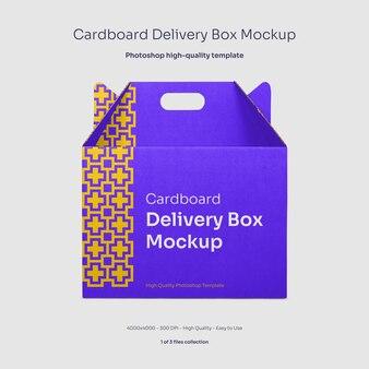 Mockup di scatola di consegna cibo in cartone