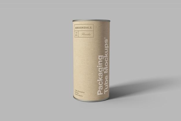 Mockup di tubi per imballaggio in cartone