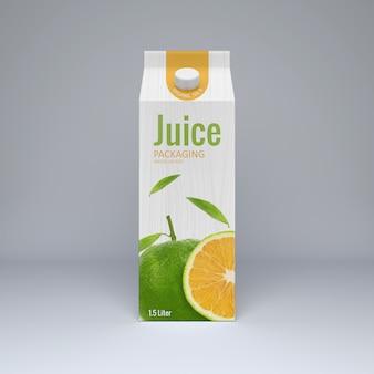 Cartone juice mockup