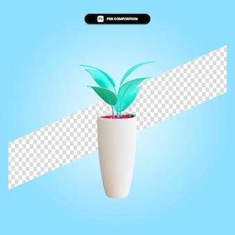 Illustrazione di rendering 3d della pianta del fumetto isolata