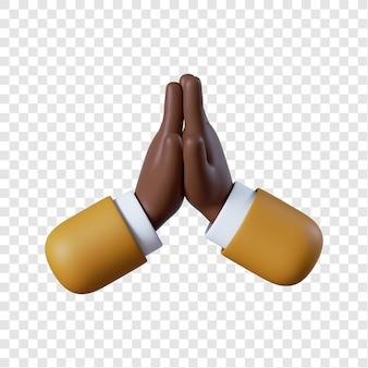 Uomo d'affari afroamericano mani che applaudono