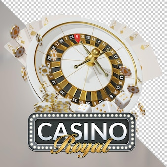 Casino royal night event 3d rendering composizione