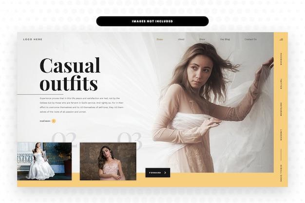 Modello di siti web di abiti casual