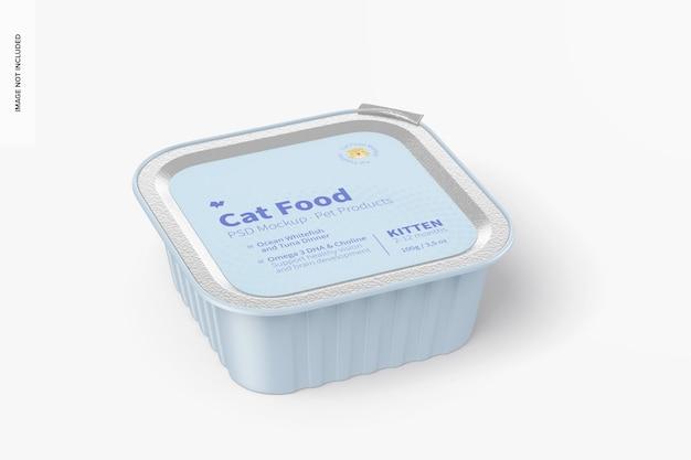 Mockup di cibo per gatti
