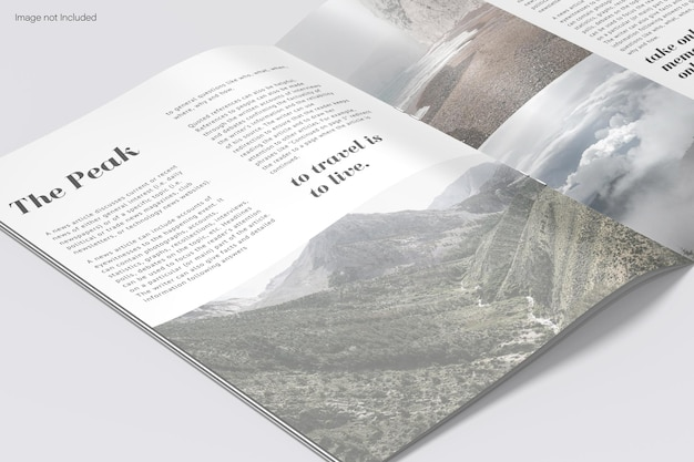 Catalogo close up mockup design rendering