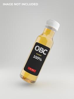 Modello di bottiglia di olio di cbd c