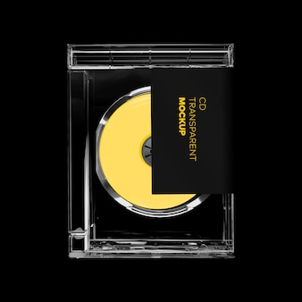 Mockup rettangolo custodia cd