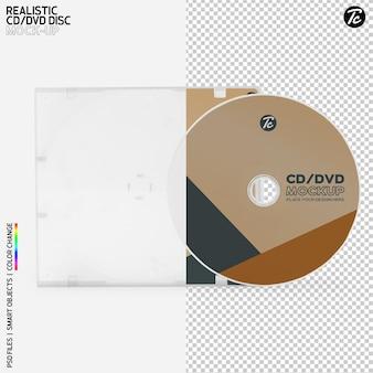 Cd disco e cd box cover mockup design isolato