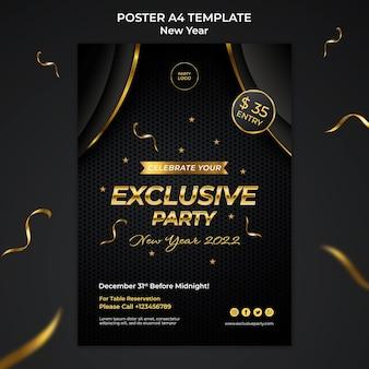 Modello di stampa verticale celebrativo del nuovo anno