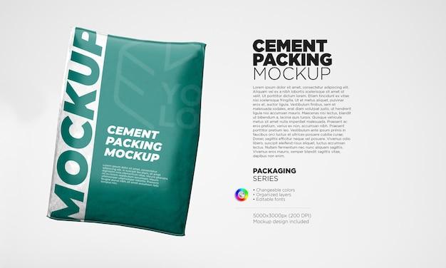 Modello di sacchetto di carta di cemento