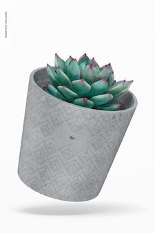 Mockup di vaso di cemento, galleggiante