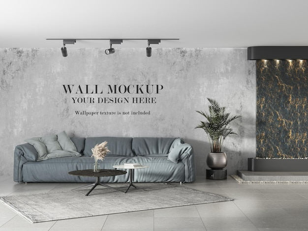 Design mockup della parete della stanza delle piastrelle del pavimento in ceramica