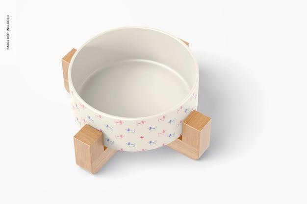 Mockup di ciotola per animali domestici in ceramica