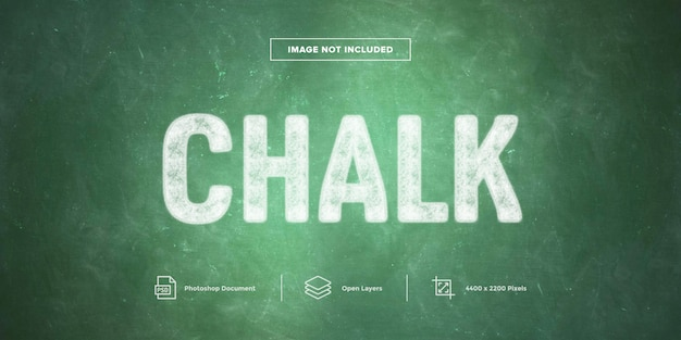 Chalk text effect design layer style