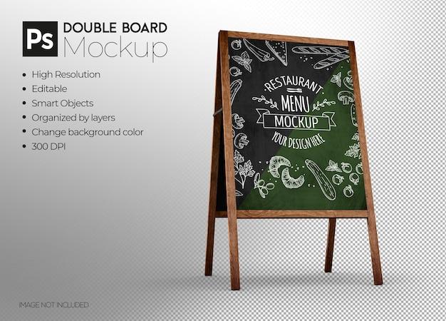 Progettazione di mockup 3d con display a lavagna