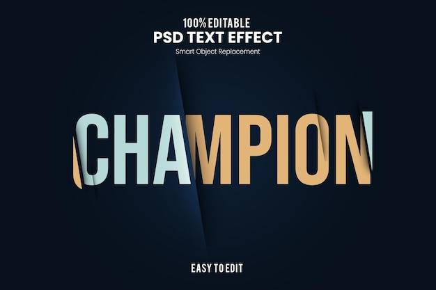 Championtext effect