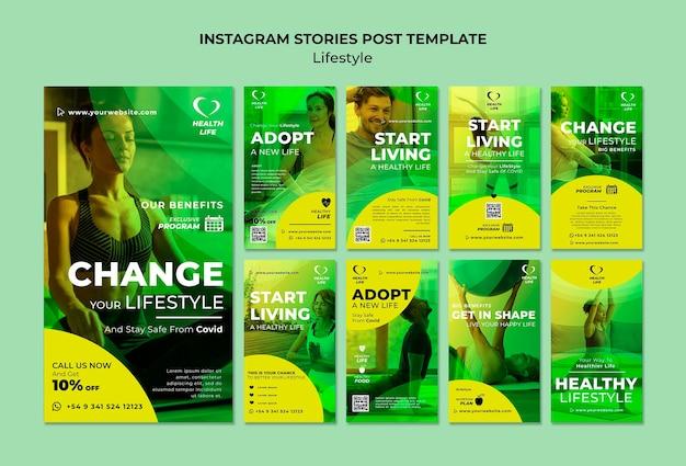 Cambia il tuo stile di vita nelle storie di instagram
