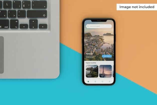 Mockup di schermo mobile modificabile