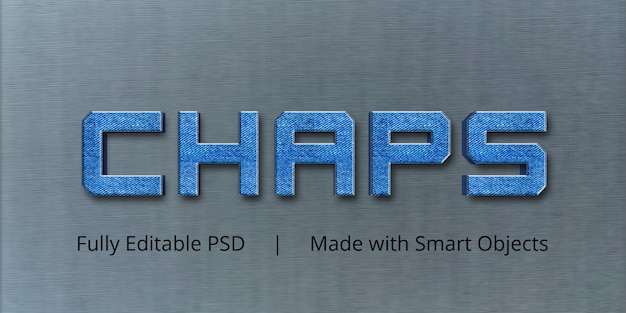 Chaps text style effect