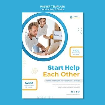 Modello di poster di attività di beneficenza
