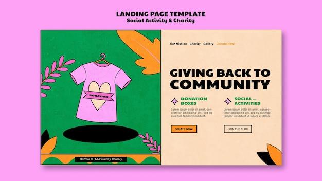 Progettazione del modello di pagina di destinazione della donazione di beneficenza