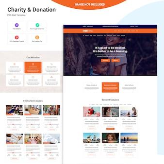 Progettazione dell'interfaccia utente web di beneficenza e donazione